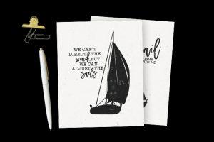 Black and White Sailboat Printables