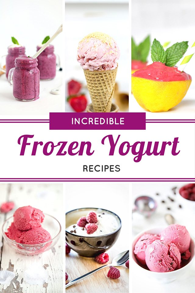 Over 25 Incredible Frozen Yogurt Recipes that will have you cooling off from the heat in no time! livelaughrowe.com