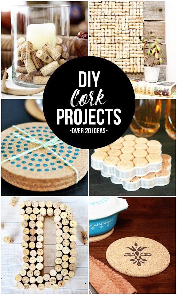 diy cork projects - over 20 ideas