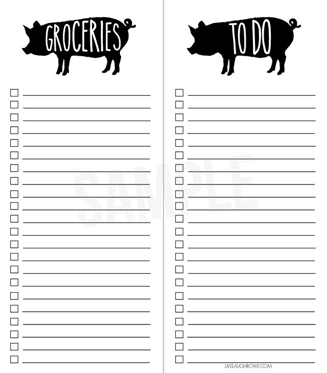 Sometimes lists are my only saving grace! This printable grocery list ...