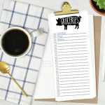 Printable Grocery List and Simple To Do List