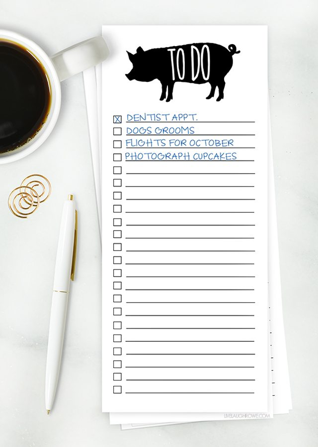 Printable Grocery List And Simple To Do List - Live Laugh Rowe