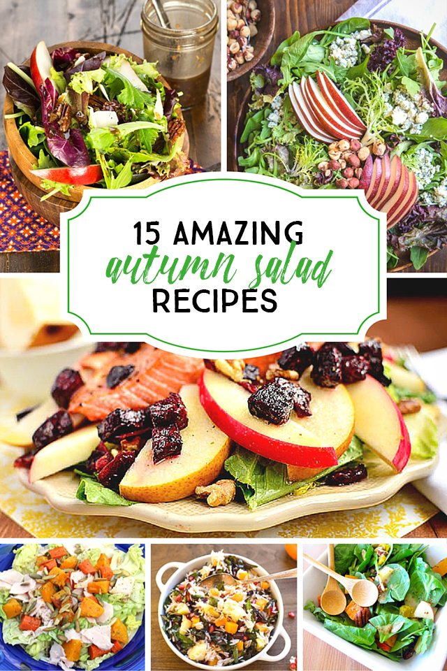 Fifteen amazing Autumn Salad Recipes to tempt your taste buds! livelaughrowe.com