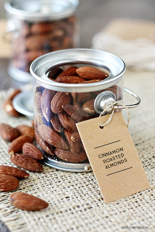 This Cinnamon Roasted Almonds Recipe is not only easy, but a healthier, sugar-free option too. Recipe at livelaughrowe.com