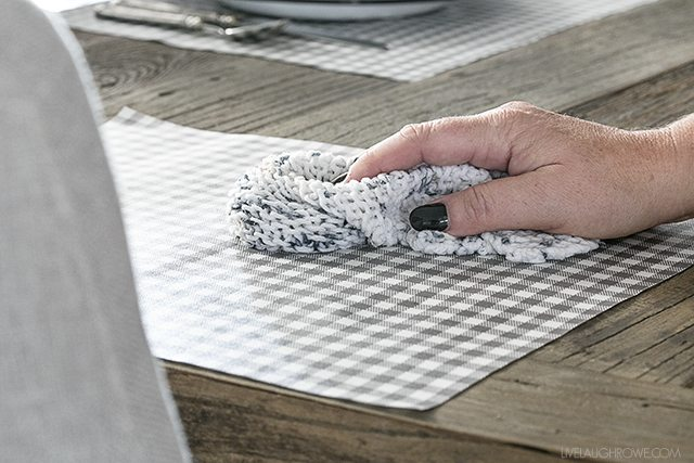 No Sew Diy Placemats That Are Wipeable Too Live Laugh Rowe