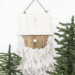 Rustic Santa Door Hanger | Christmas Door Decoration