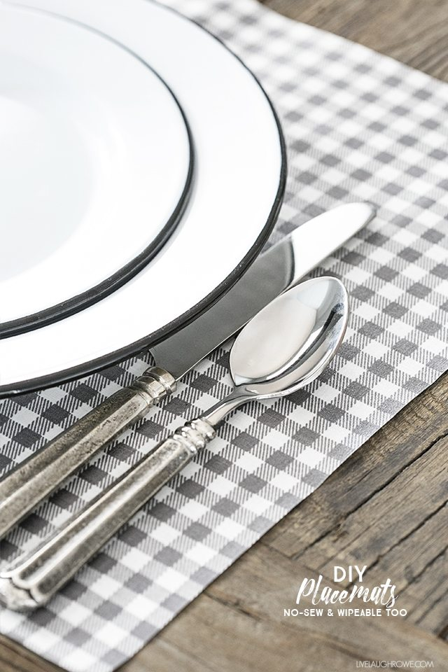 Rowes Furniture This is a must-try! DIY Placemats that are no-sew, wipeable and EASY ...