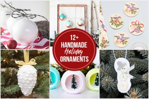 12+ Handmade Holiday Ornaments -- add to your tree or gift to family and friends. livelaughrowe.com