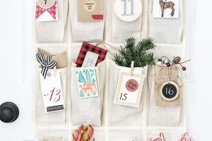 Woodland Inspired Advent Calendar | Printable Number Tags