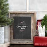 Christmas Chalkboard Printable | Good Tidings
