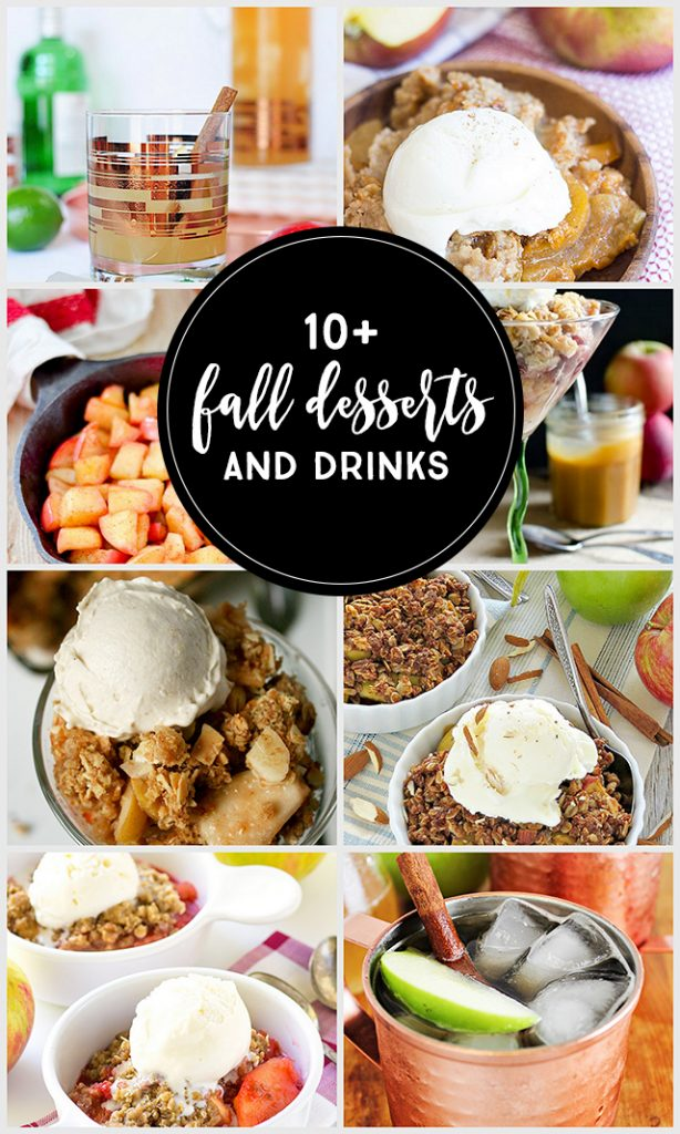 Fall Desserts and Drinks using apples! livelaughrowe.com