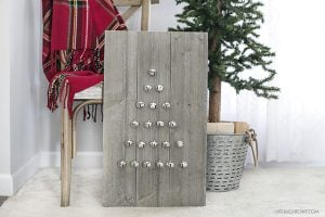 Shiplap Ornament Display