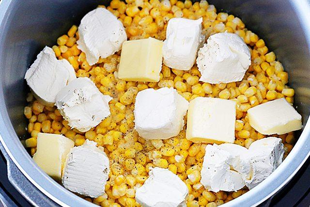 Preparing 10 Minute Pressure Cooker Creamed Corn! Snatch up the recipe at livelaughrowe.com