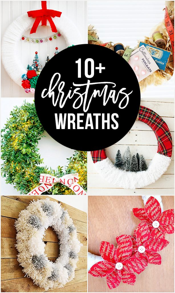 10+ Christmas Wreaths to inspire your holiday crafting! livelaughrowe.com