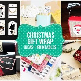 Fabulous Christmas Gift Wrap Ideas and Printables. livelaughrowe.com