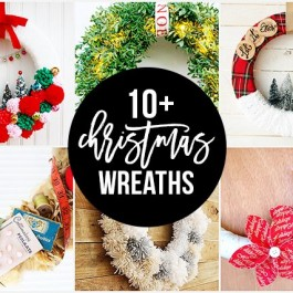 10+ Christmas Wreaths to inspire your holiday crafting! livelaughrowe.com
