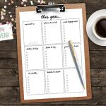 This Year… FREE New Year's Resolutions Printable