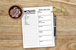 Printable Menu Planner and Online Grocery Pickup