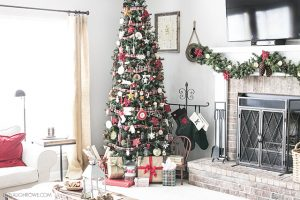 Warm and Cozy Christmas Living Room