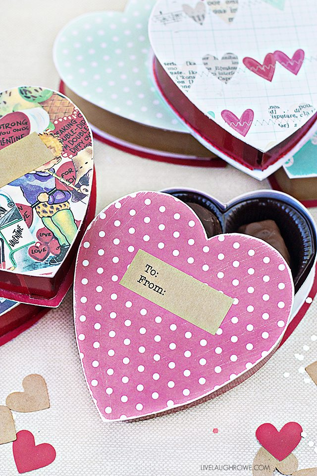Diy Valentine Gift Box Upcycled Box Of Chocolates Live Laugh Rowe