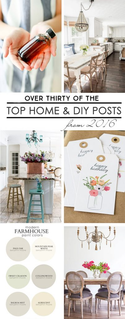 The Best of 2016 -- top home and diy posts to inspire you. livelaughrowe.com