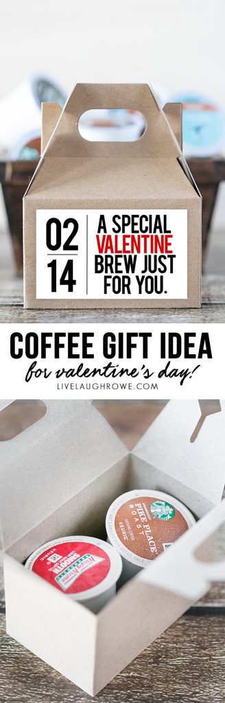 A very special valentine brew just for you! Fantastic coffee gift idea for those coffee lovers in your life! livelaughrowe.com