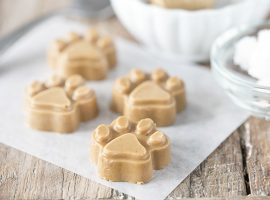 Treat your dogs to these yummy homemade Peanut Butter Coconut Oil Dog Treats! They'll be begging for more. livelaughrowe.com