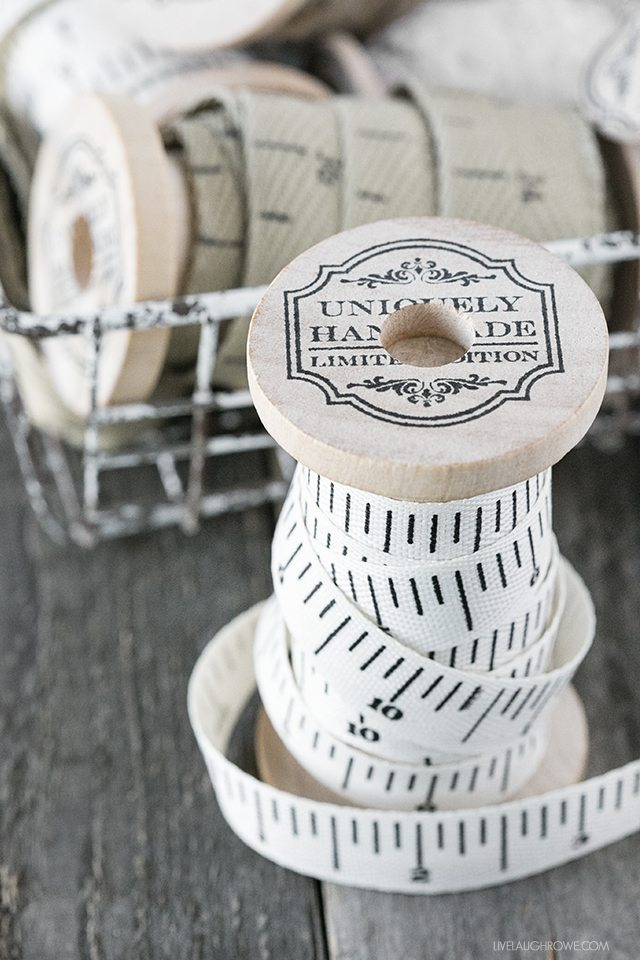 Vintage Wooden Ribbon Spool. These are lovely for storage, decor, photography props and more! livelaughrowe.com