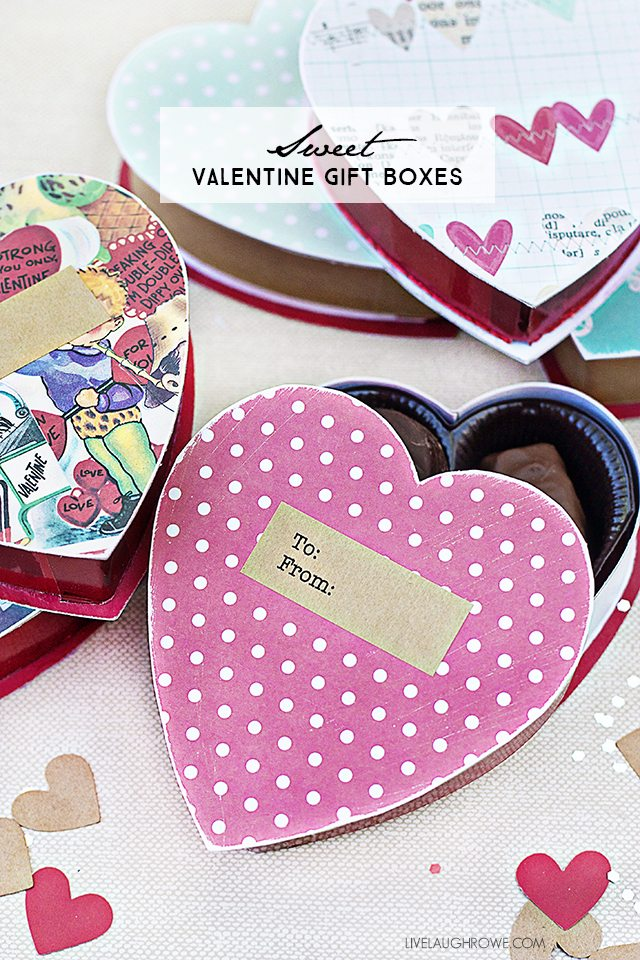 sweet diy valentine gift box convert a chocolate box into a great gift box