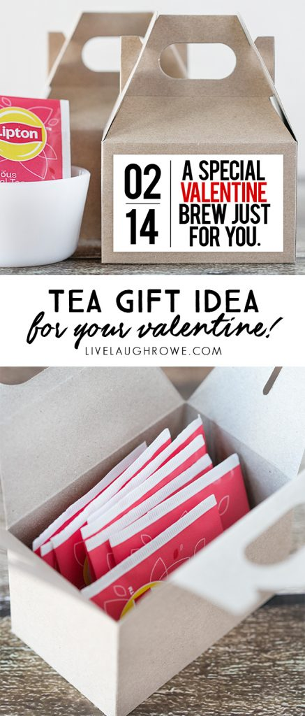 A very special valentine brew just for you! Fantastic gift idea for the tea lover. livelaughrowe.com