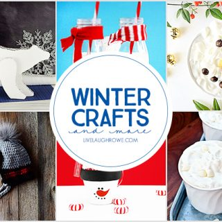 Fun Winter Crafts and More for the whole family. livelaughrowe.com
