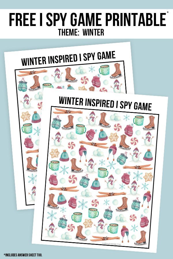 photo regarding I Spy Printable known as Winter season I Spy Printable - Stay Chortle Rowe
