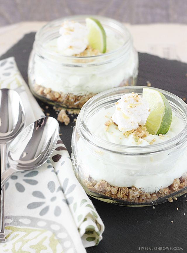 Delicious Key Lime Mousse in a jar. livelaughrowe.com