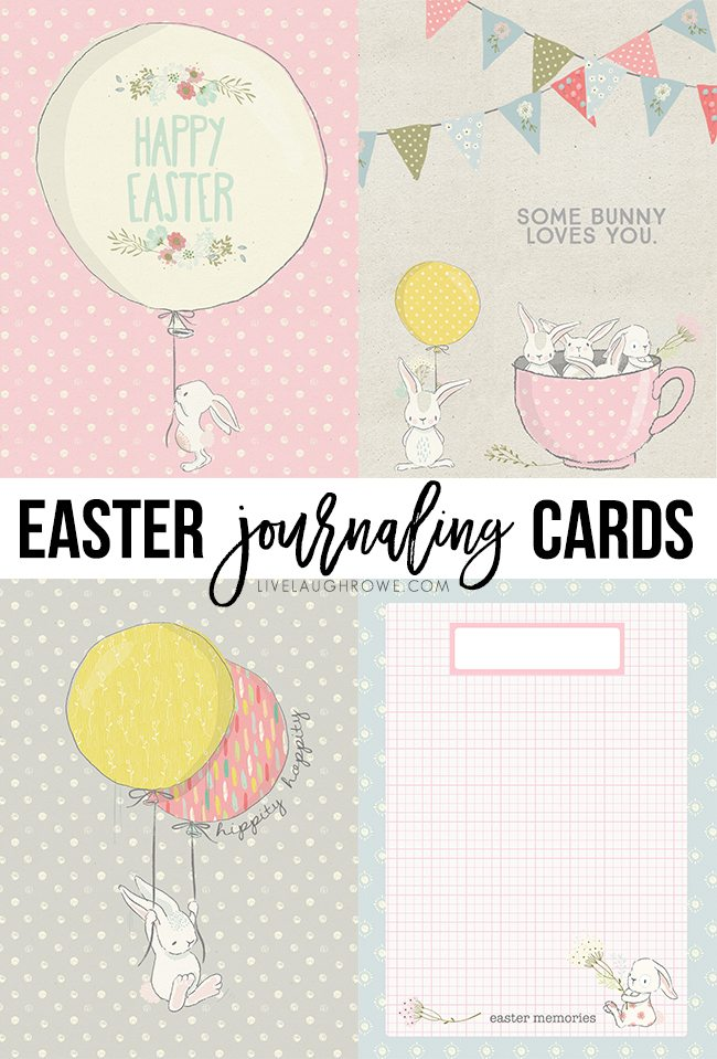photo relating to Free Printable Journaling Cards titled Easter Journaling Playing cards Absolutely free Printables - Reside Chortle Rowe