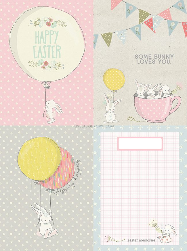 image about Free Printable Journaling Cards identified as Easter Journaling Playing cards Cost-free Printables - Are living Chortle Rowe