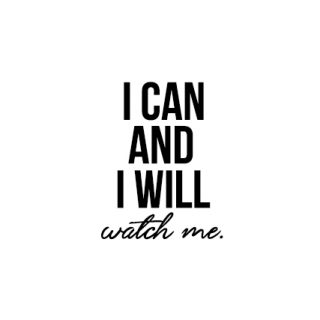 """March 2017 Calendar. Free printable with a great motivational quote: """"I can and I will. Watch me."""" Print yours at livelaughrowe.com"""