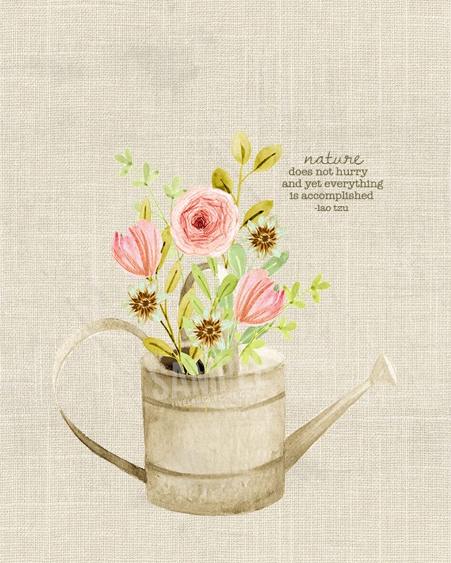 Spring Flowers in a Watering Can | Printable Wall Art - Live Laugh Rowe