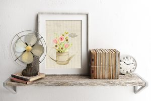 Spring Flowers in a Watering Can | Printable Wall Art