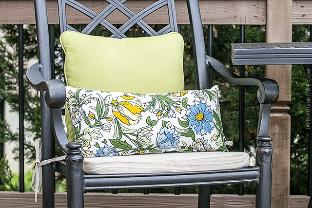 Simple Ways to Add Color to Your Back Porch. Colorful cushions and/or throw pillows. livelaughrowe.com