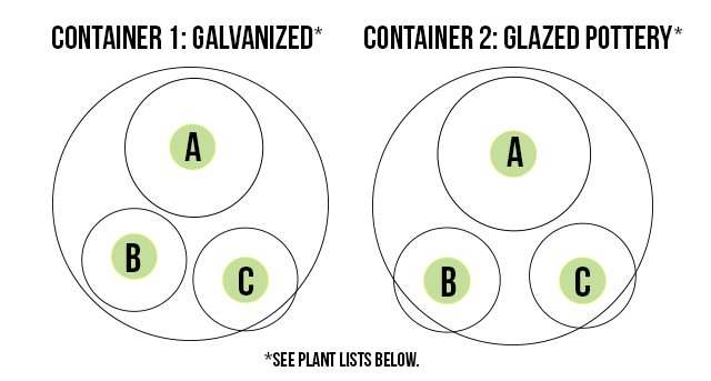The makeup of my container plants! livelaughrowe.com