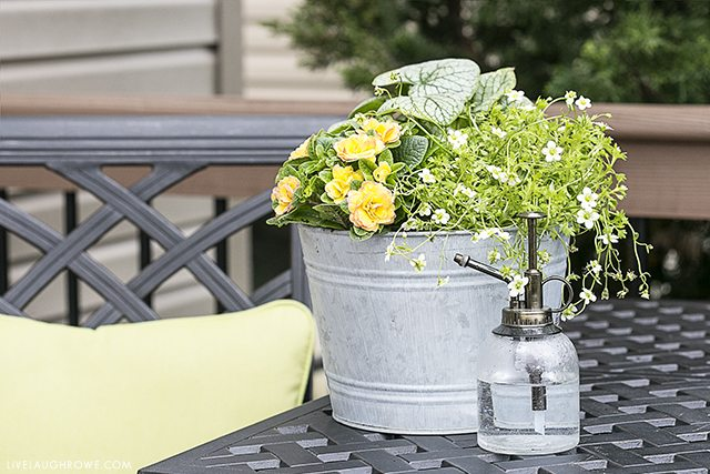 Simple Ways to Add Color to Your Back Porch. Let's start with colorful flowers -- find more at livelaughrowe.com