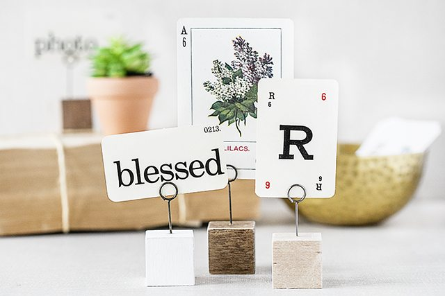 Simple Photo Holder | Great Place Card Holder too!