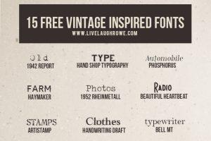 15 Free Vintage Fonts