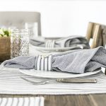 Farmhouse Inspired Tablescape with Ticking Stripes