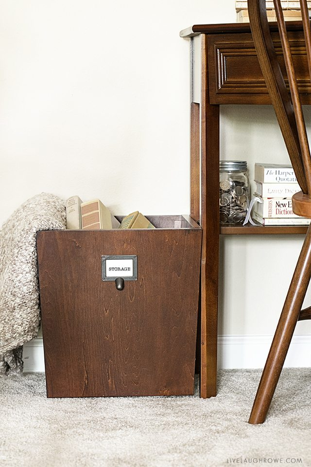 How to Make the Most of a Small Space. Love the use of this storage bin. livelaughrowe.com