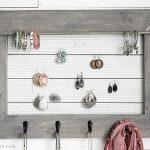DIY Jewelry Organizer with Farmhouse Charm