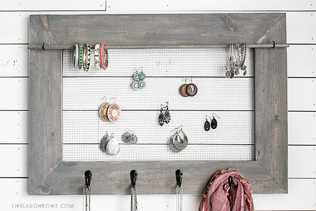 DIY Jewelry Organizer with Farmhouse Charm Live Laugh Rowe