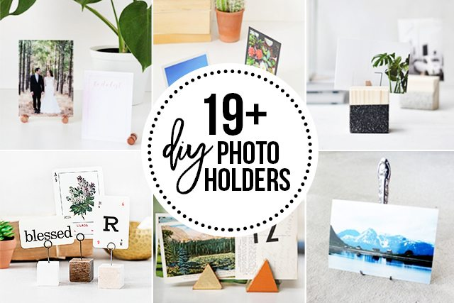 Over 19 fabulous DIY Photo Holders to inspire you! Great for displaying pictures, love notes, ticket stubs and more! livelaughrowe.com