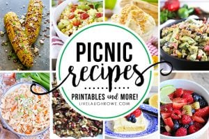 Lots of great picnic recipes, along with decor ideas and printables too! livelaughrowe.com