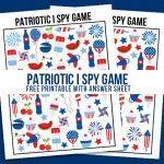 Patriotic I Spy Printable | Game for Kids